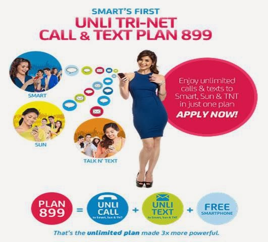 smart tri net unlicall & text plan 899