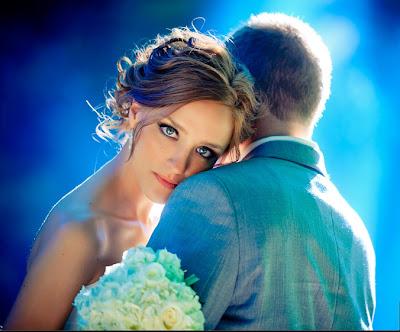 Свадебное фото: глаза невесты