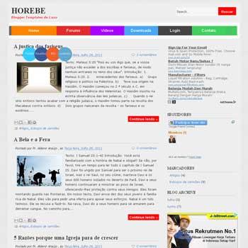 Horebe Blogger Template. minimalist design blogger template. blogspot template free
