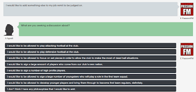 Football Manager Board Philosophies and vision