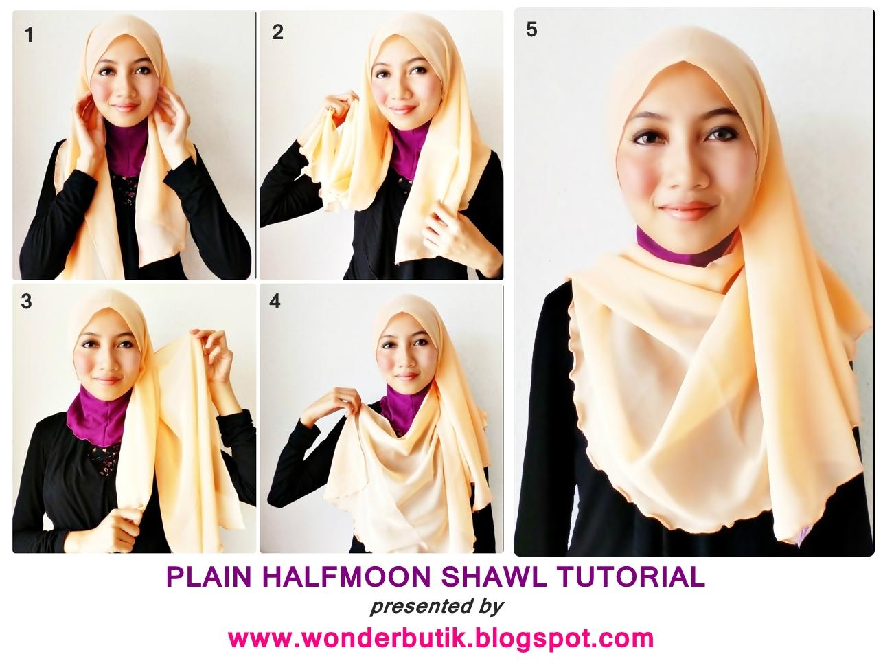 ... Lace Shawl di SINI & Plain Halfmoon Shawl (Shawl Lunaa) di SINI