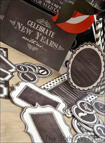 New Year´s Eve Party Chalkboard Style Free Printable Kit
