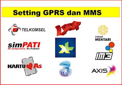 Cara Setting GPRS dan MMS Telkomsel, XL, Indosat, Axis dan 3