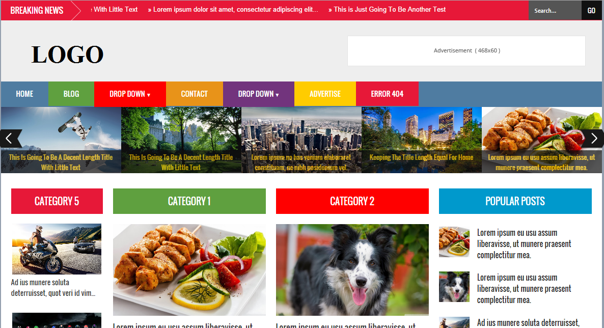Xpress News Template Blogspot chuẩn SEO