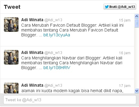 widget twitter,twitter,jejaring sosial