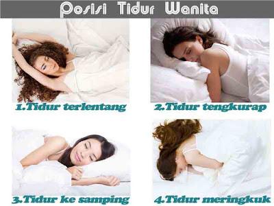 Posisi tidur wanita, gaya tidur, sleeping position