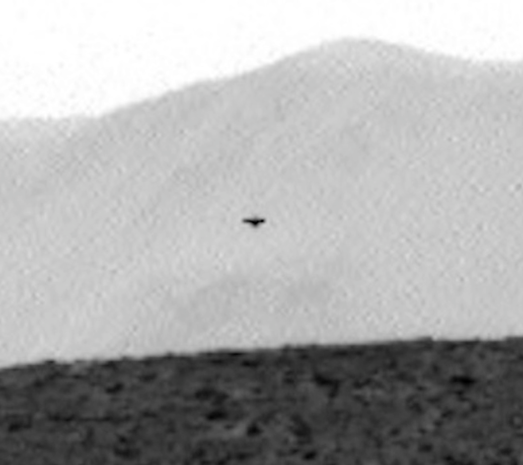 Dark ufo on mars caught by curiosity rover july 2014 ufo sighting