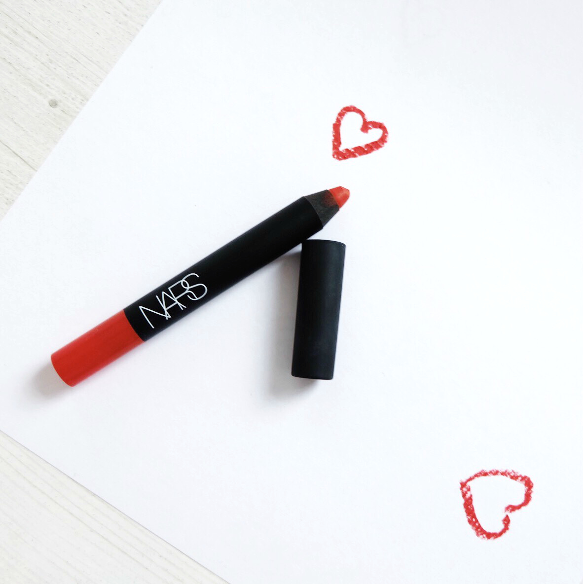 NARS Red Square Lip Pencil Review, NARS Red Square Lip Pencil swatch