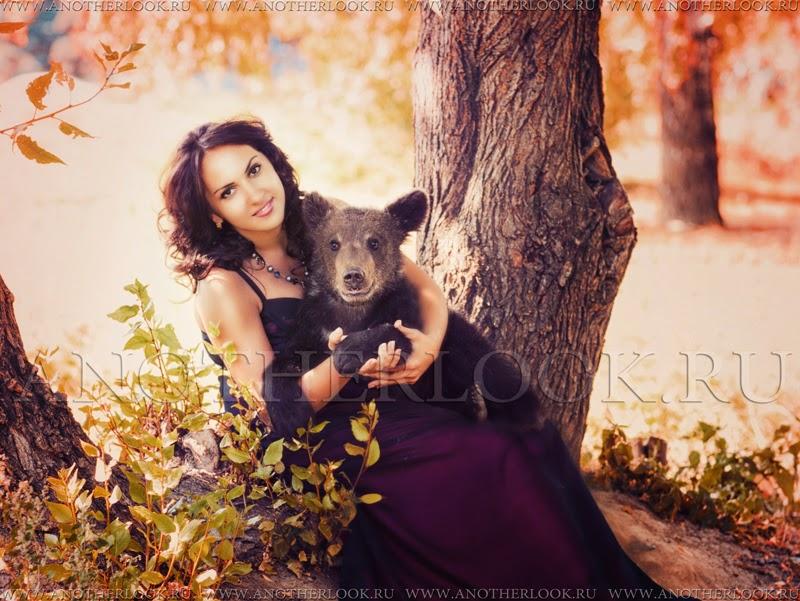 медведь на фотосессию