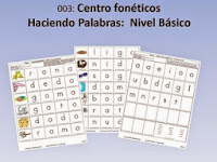 http://www.teacherspayteachers.com/Product/Spanish-Centro-Foneticos-003-haciendo-palabras-Nivel-Basico-DIGITAL-500078