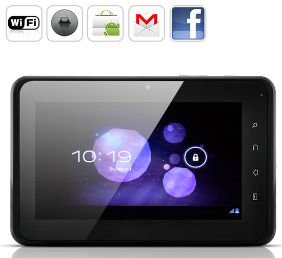 ICS 4.0.4 stock firmware for Marvel 7 inch tablet with 1.0 GHz Vimicro882 A8 CPU