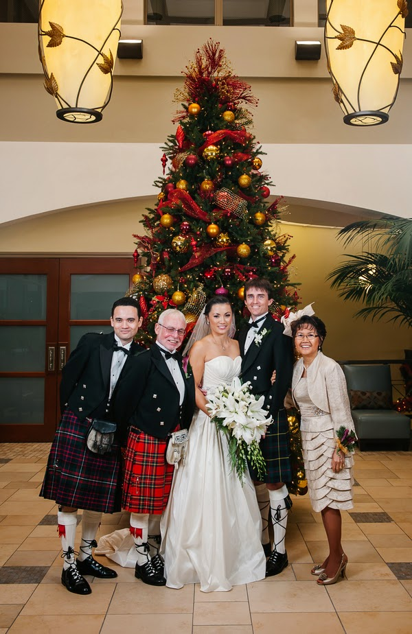 Christmas Theme Wedding with a Convertible Dress