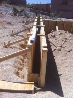 Stockton residence stem wall complete foundation forms for Foundation stem wall