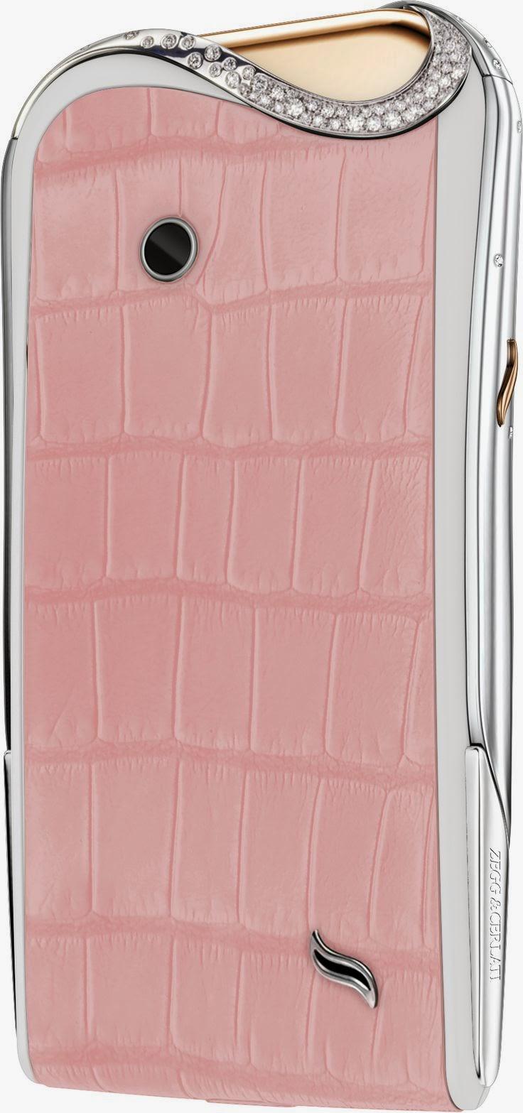 Smartphone de luxo para mulher em rosa