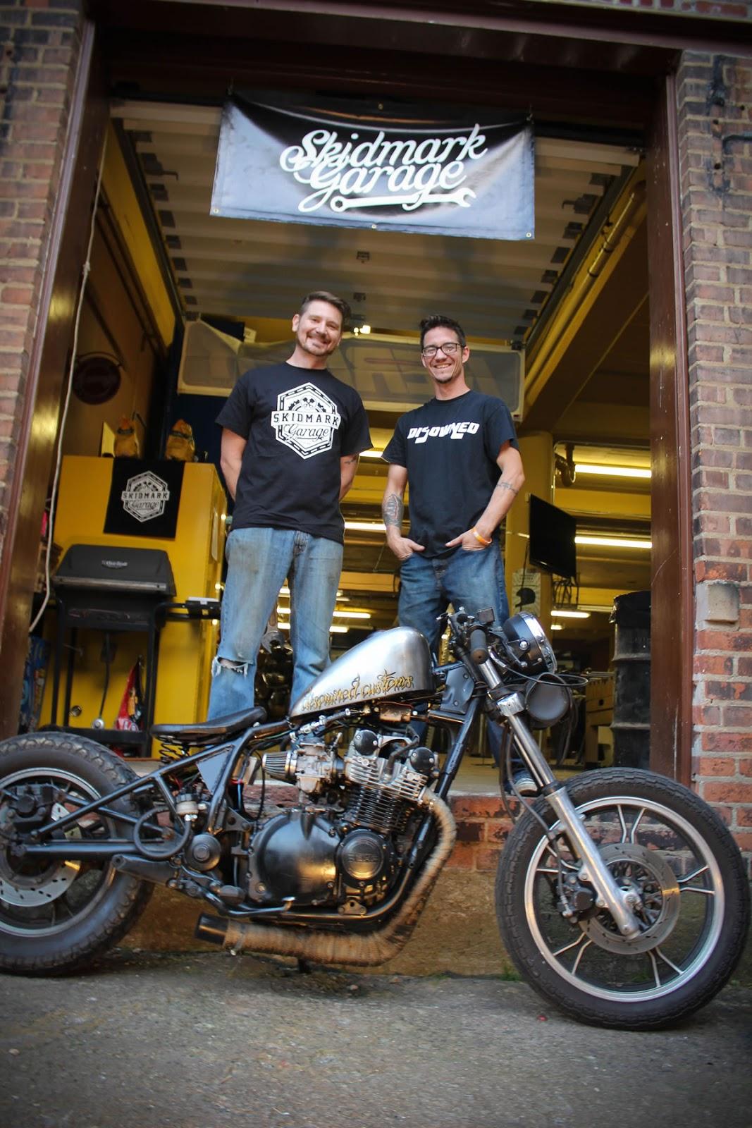 Brian and Dani at Skidmark Garage