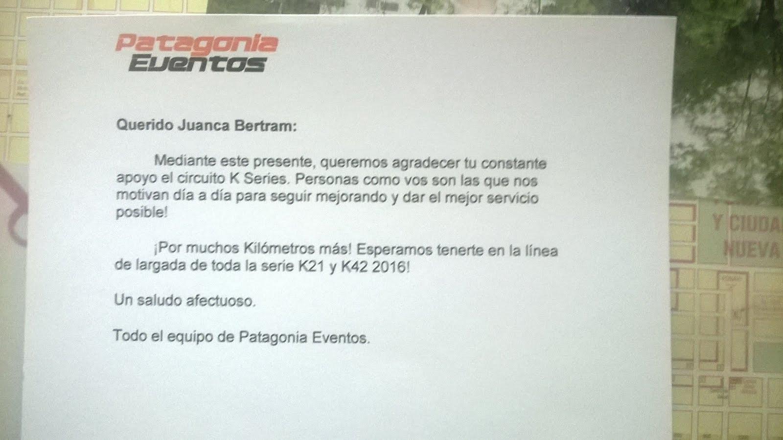 Reconocimiento Patagonia Eventos.
