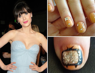 Zooey Deschanel manicure emmy predictions