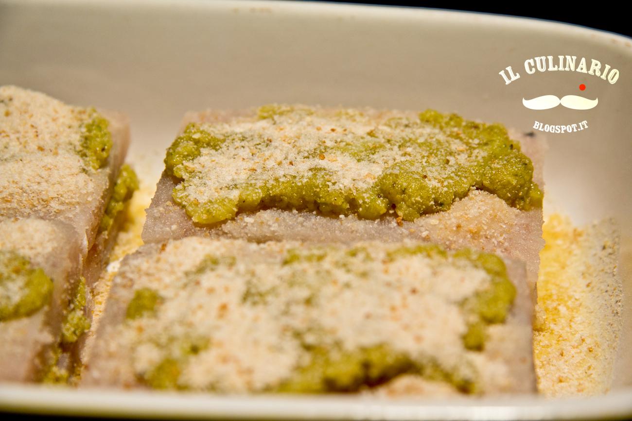 Filetti di merluzzo farciti con pesto di pistacchio | Il Culinario