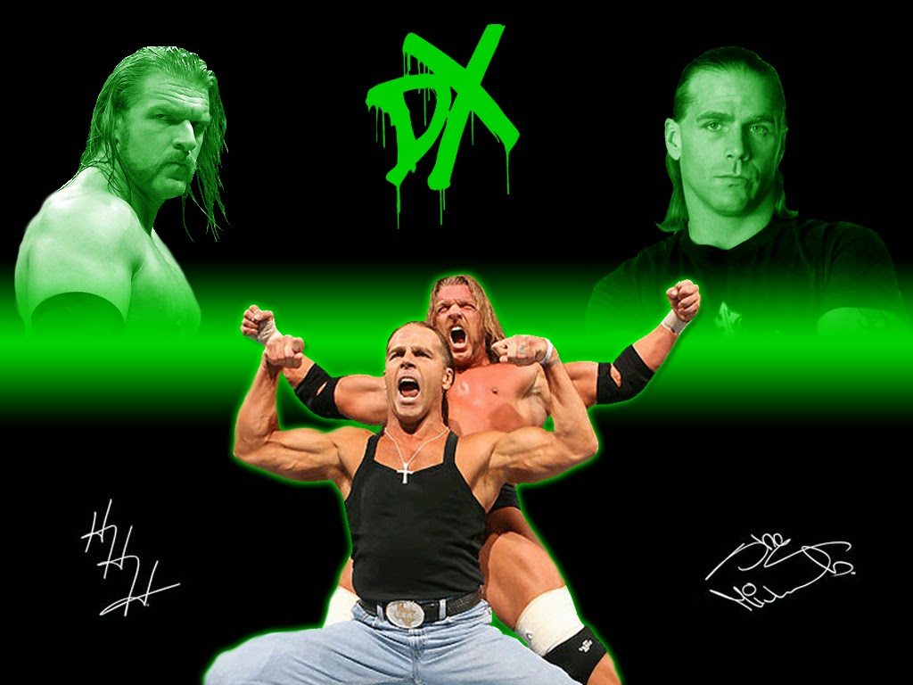 Shawn Michaels Triple H Wallpaper With D Generation X Background