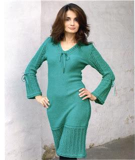 http://www.vyazemsami.ru// Платье зеленого цвета