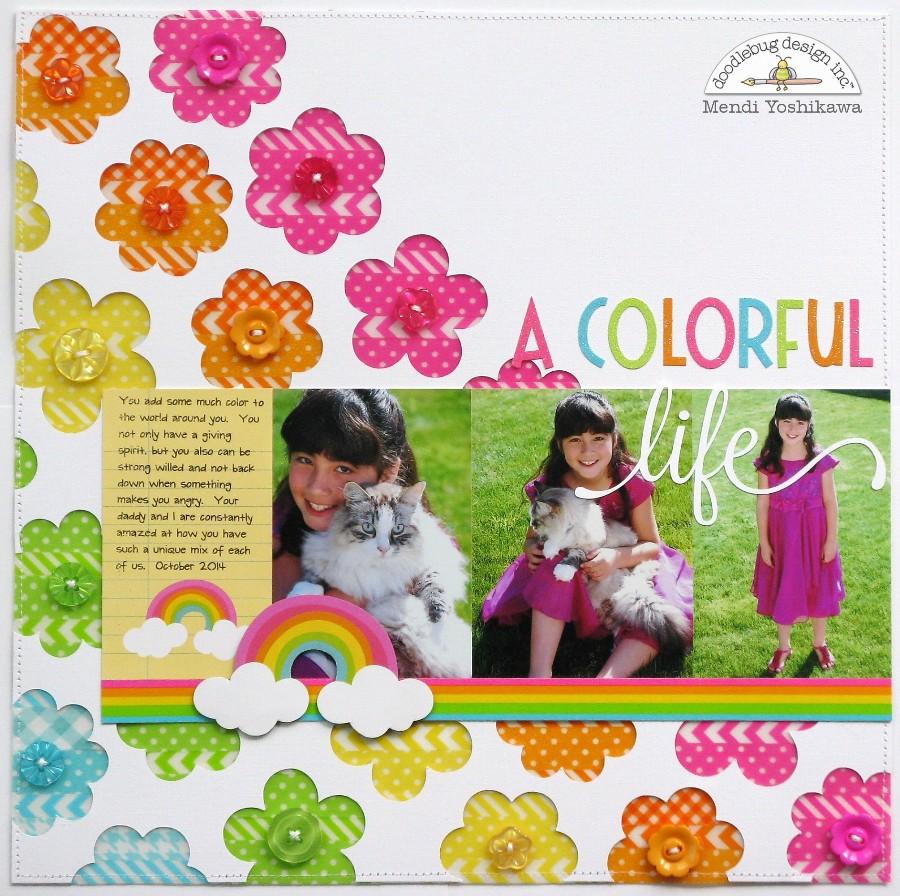 Scrapbook ideas rainbow - March A Focus On Doodlebug Washi Tape