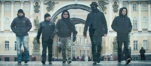 Die Band Eisbrecher in Moskau