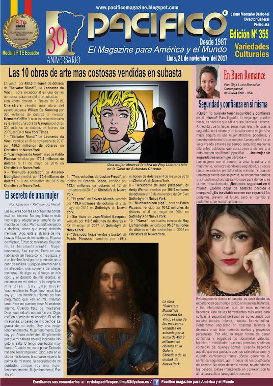 Revista Pacifico Nº 355 Variedades Culturales