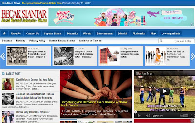 Tampilan / Template Blog Becak Siantar