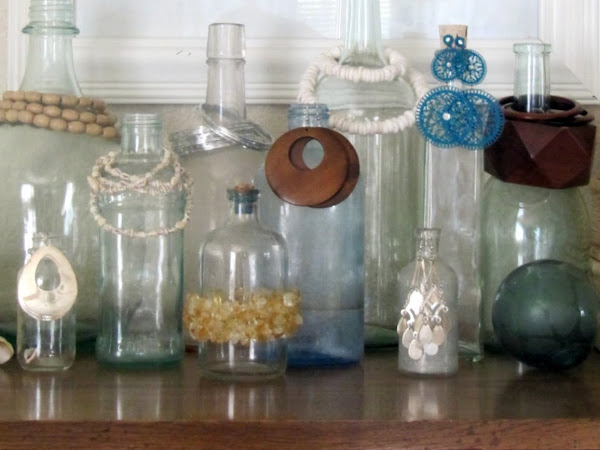 Displaying Jewelry With Bottles