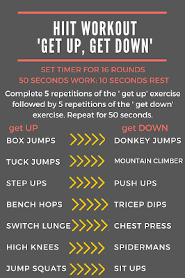 HIIT workout - Get Up, Get down.