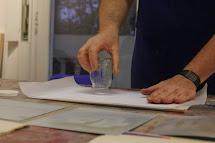 Litografía sin agua, impresión manual