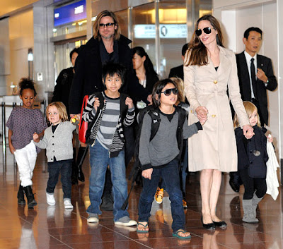hollywood actress angelina jolie family picture