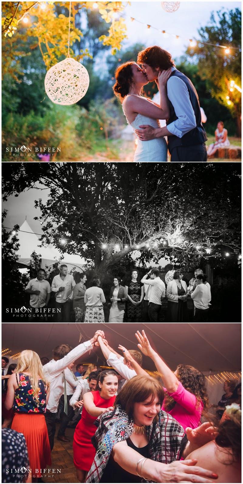 Dancing at Roughmoor Farm wedding