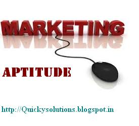Marketing aptitude quiz 2013