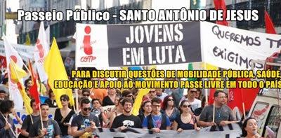 Jovens de Santo Antônio de Jesus realizarão manifestação na quinta-feira (20)