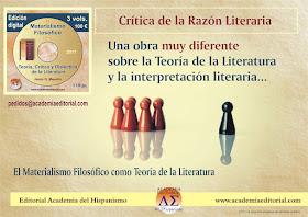 Una obra muy diferente sobre la Teoría de la Literatura y la interpretación literaria...