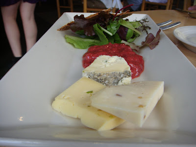 Cheese platter at Simon Pearce, Quechee, Vermont