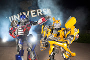 . and the Decepticons to Universal Studios Florida in summer 2013. (optimus prime and bumblebee at uo)