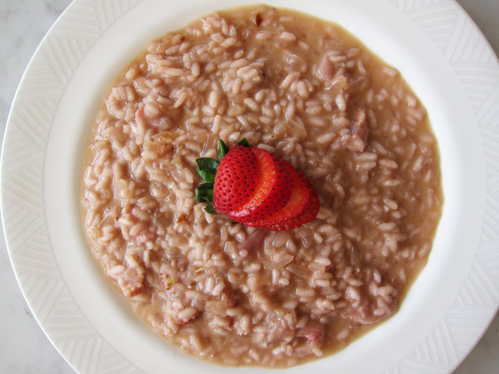 Kitchen comforts: Strawberry Risotto with Strawberry Smoothie