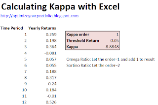 Calculate Kappa with Excel