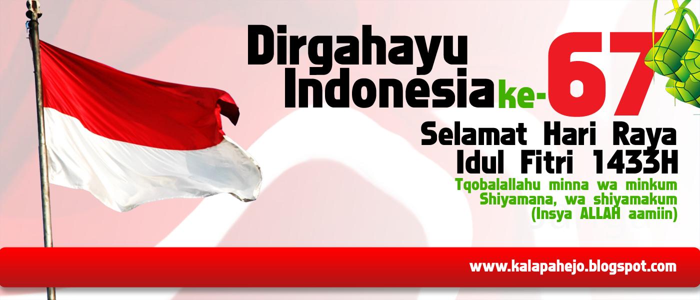 ... Republik Indonesia ke-67 & Hari Raya Idul Fitri 1433 H vector