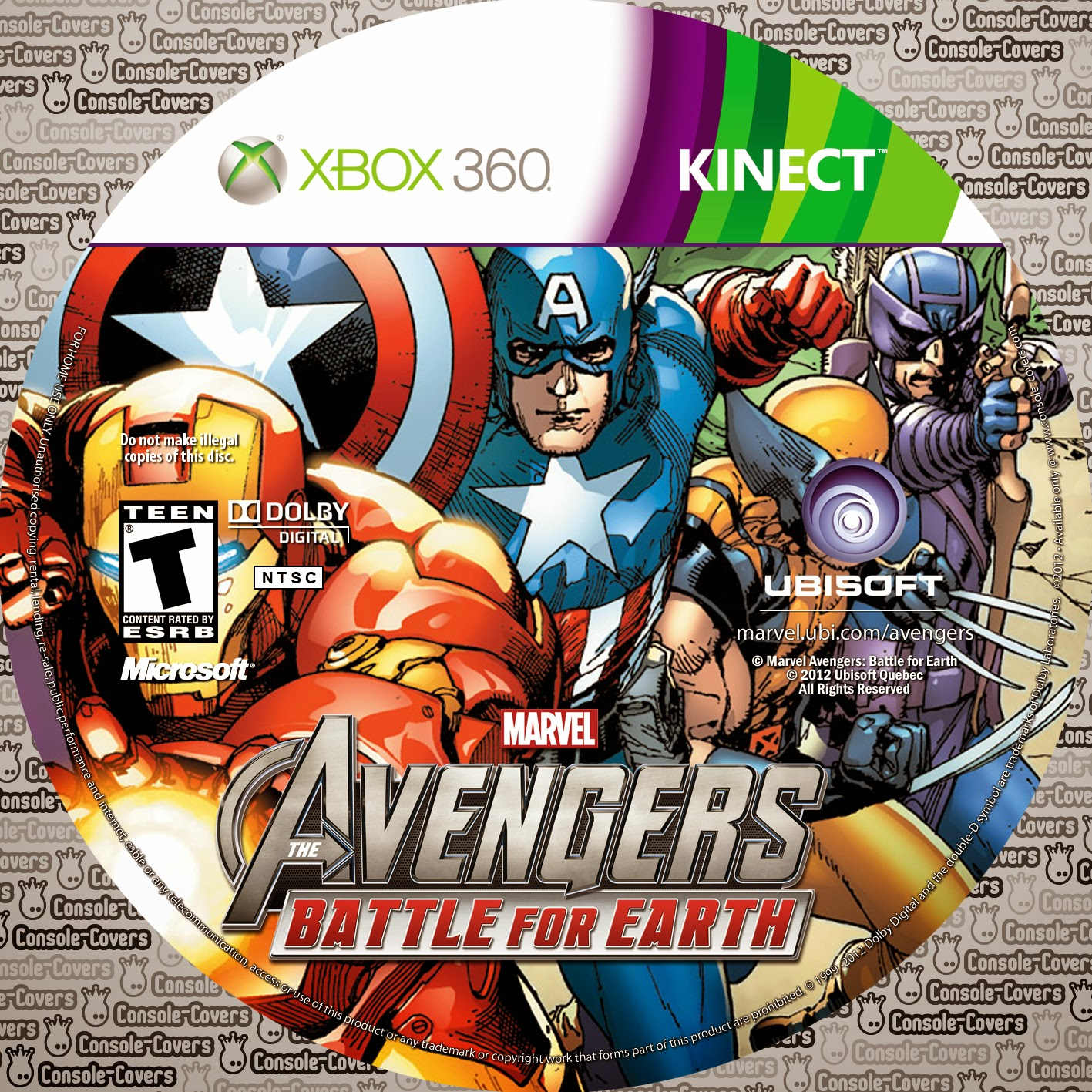 Capa Marvel Avengers Battle For Earth XBOX 360
