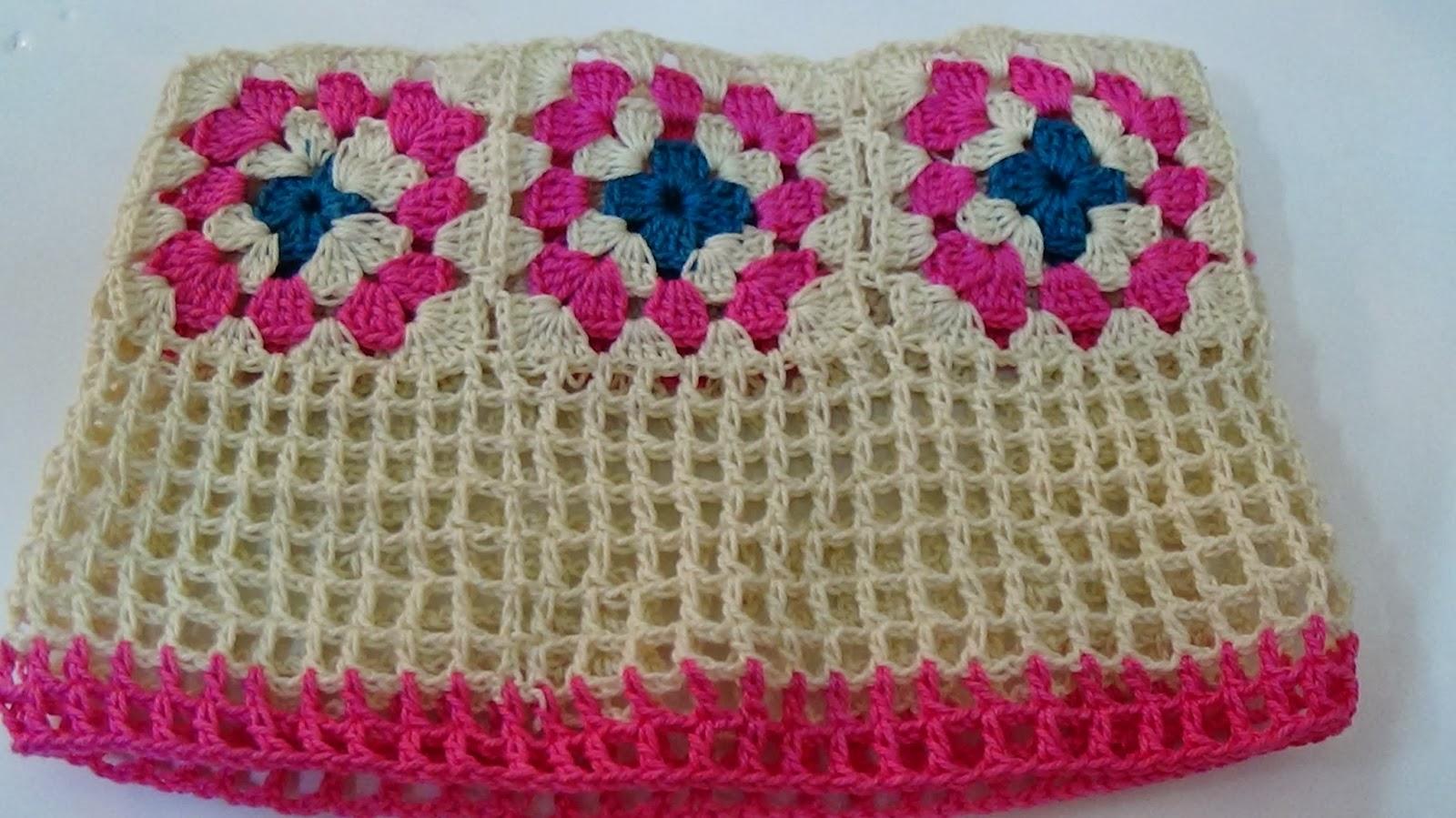 The Crochet World: CROCHET GRANNY SQUARE SKIRT