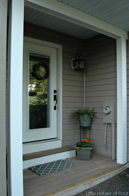 Spring Porch With DIY Welcome Sign