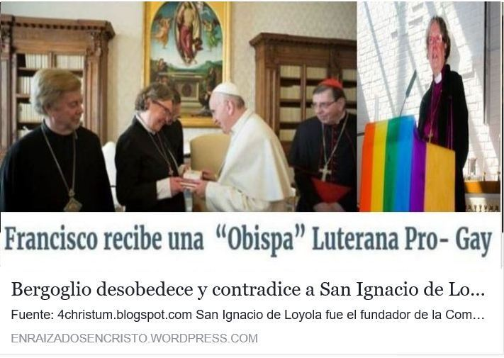 Bergoglio se rebela, desobedece y contradice a San Ignacio de Loyola
