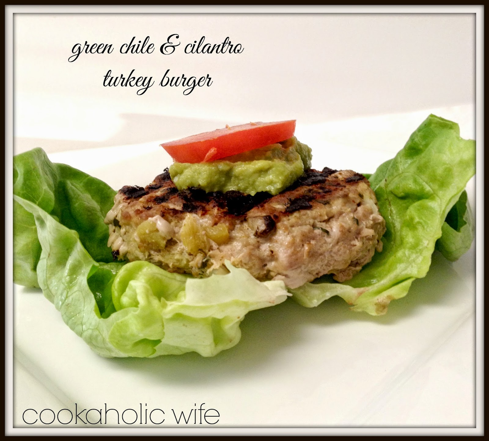 Green Chile and Cilantro Turkey Burgers