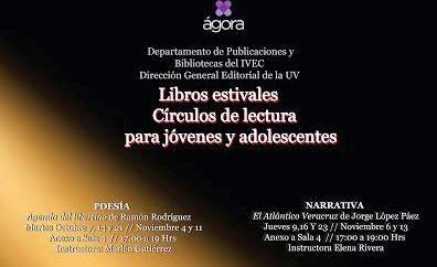 Círculos de lectura para jóvenes y adolescentes en el Ágora de la Ciudad de Xalapa