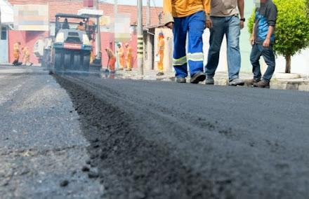 Pavimentação asfáltica e recapeamento de ruas