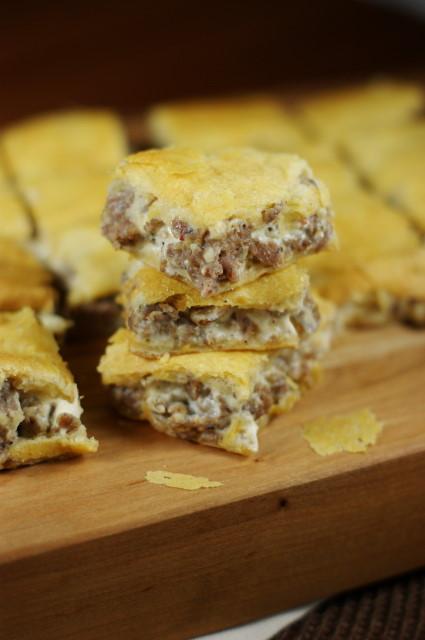 3-Ingredient Crescent Sausage Bites   www.thekitchenismyplayground.com