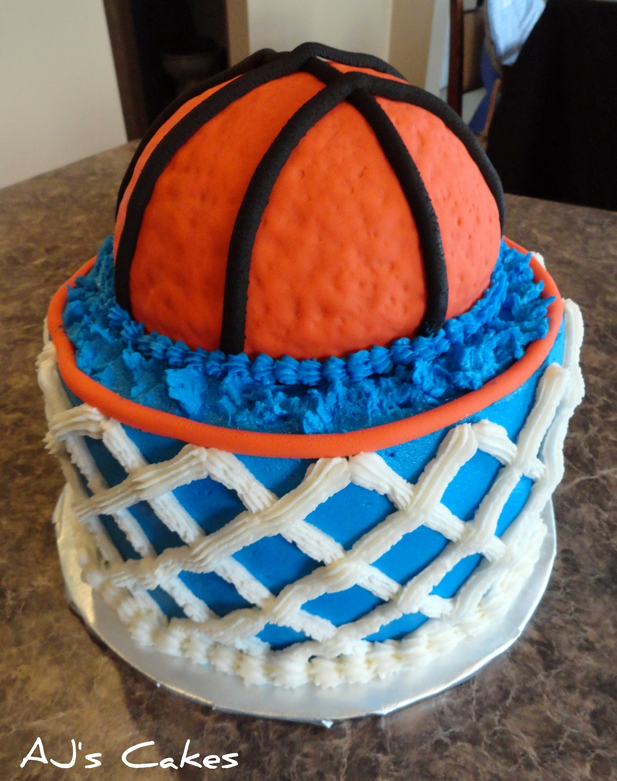 Cake Images Basketball : AJ s Cakes: Basketball and Water Cake